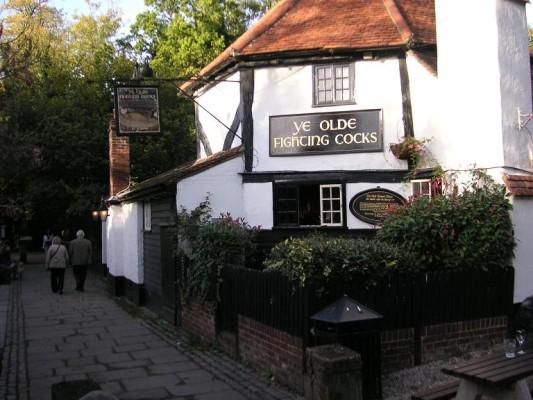 Ye Olde Fighting Cocks Pub