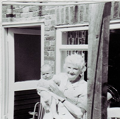 Mrs. Yemm seen holding baby Julie Rixon in 1969.   Geoff Webb