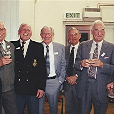 Left to right: Geoff Nunn, John Marshall, 'Snowy' Nunn, Ernie Young, Colin Smith, Ken Marshall, Ray Webb. | Geoff Webb